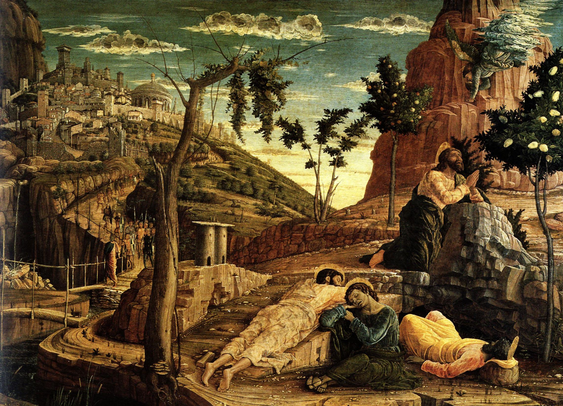 1459 andrea mantegna la priere au jardin des oliviers bois for Au jardin des oliviers