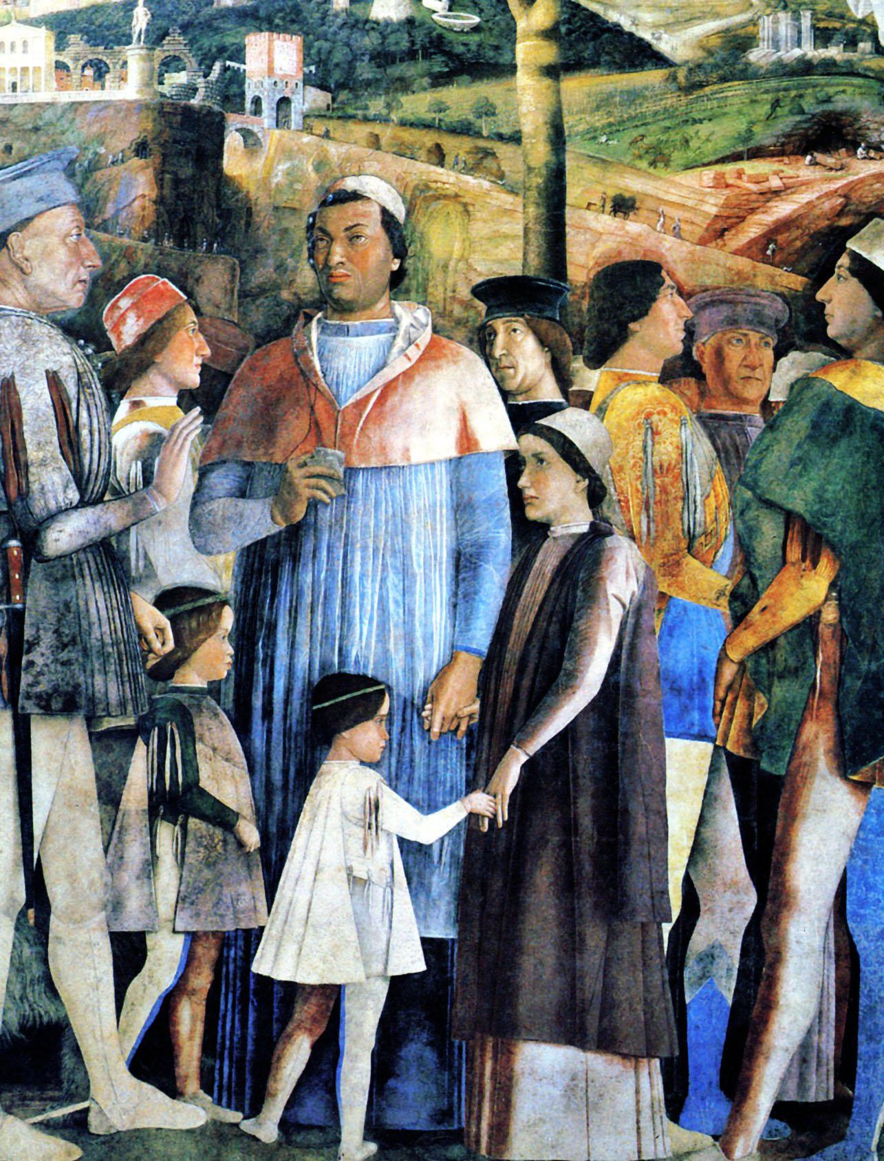 1460 1475 andrea mantegna la chambre des epoux mur decora for La chambre de giovanni
